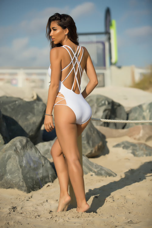 Star Island Swimsuit - White Back