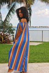 Sunset Stripe Oversized Jumpsuit Back