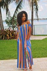 Sunset Stripe Oversized Jumpsuit Full