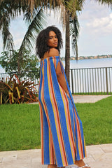 Sunset Stripe Oversized Jumpsuit Side