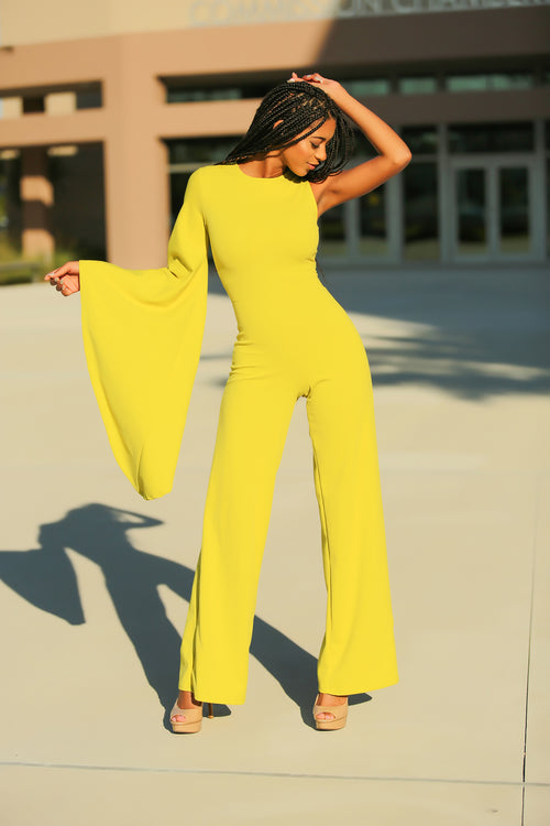 Taraji - She's Worth It Jumpsuit - Green