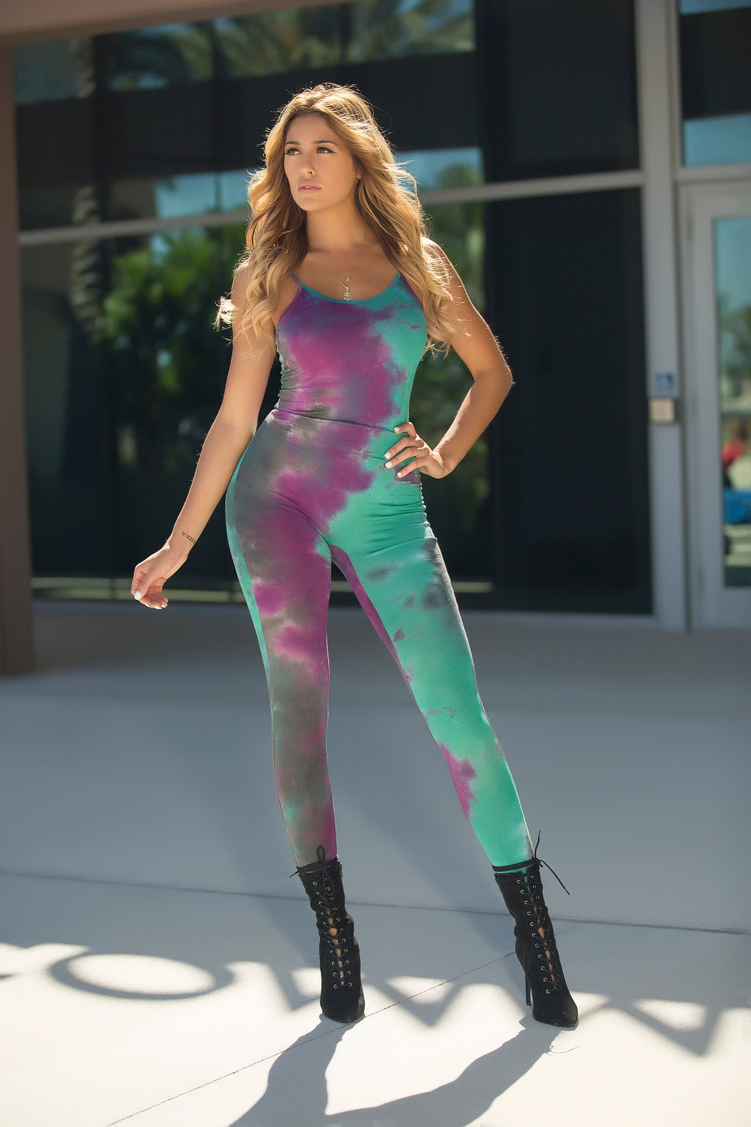 94cf4da001935 ... Cici - Tie Dye Me Down Jumpsuit - Purple - Semai House Of fashion ...