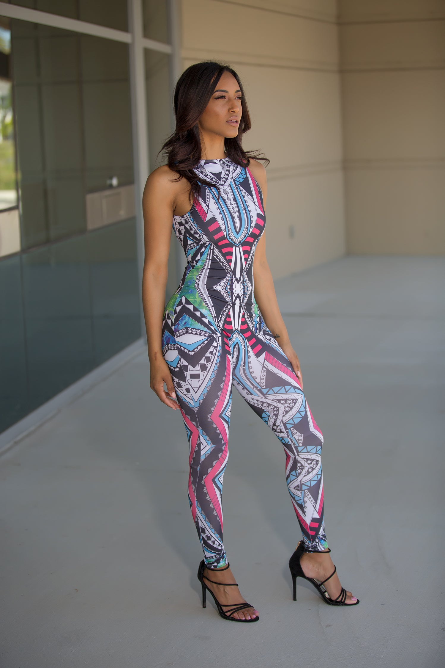 Nakia - Tribal Print Jumpsuit - Semai House Of fashion