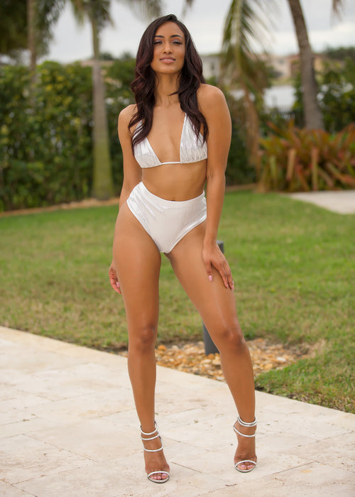 White Metalic Oceanside swimsuit