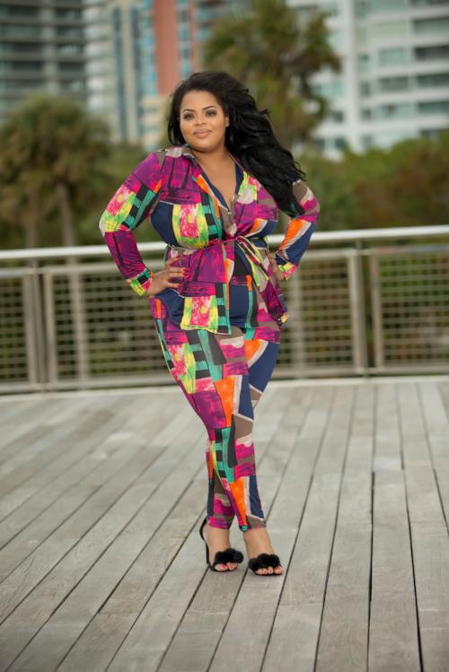 Daphne - World Of Color Plus Size Pant Set