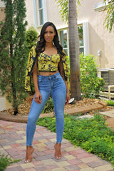 Jacket and Top Feeling Gold - Semai House Of fashion