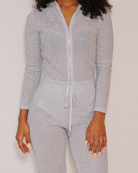 Makayla - Shiny Bright Rhinestone Jumpsuit - Semai House Of fashion