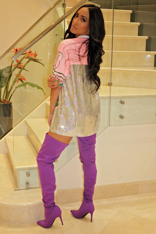 High Thighs Purple Puly Boots - Semai House Of fashion