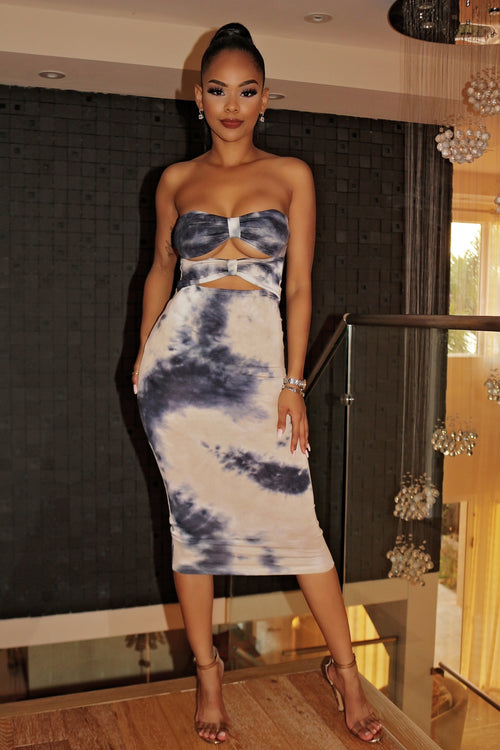 Tube Dye Dress - Semai House Of fashion