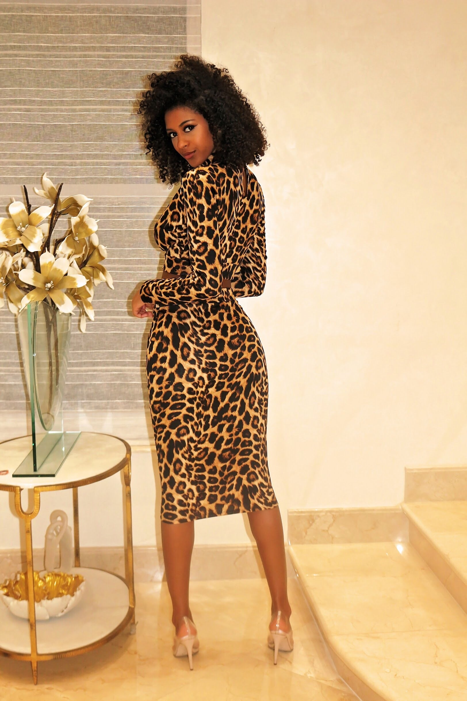 Sexy Skirt Set Leopard