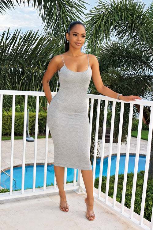 Summer Love Dress- Gray