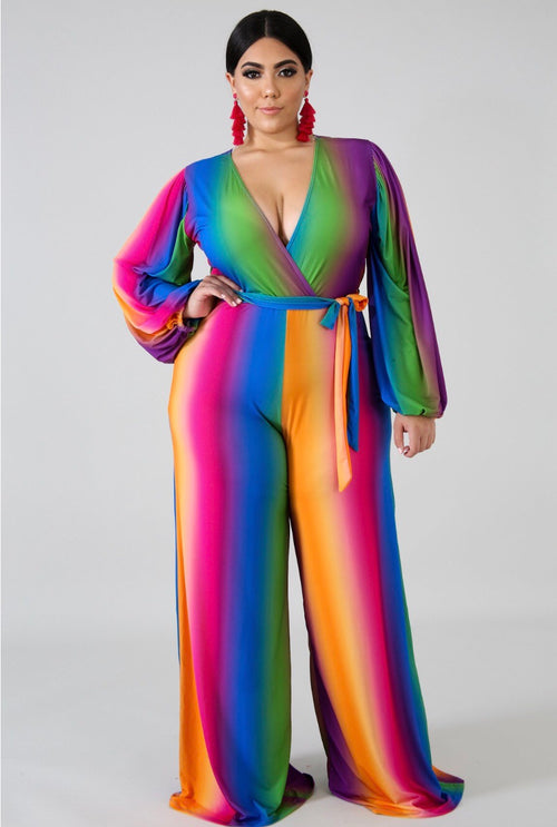 Rainbow Sexy Jumpsuit