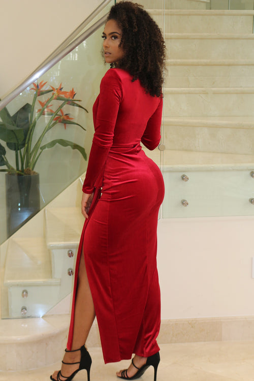Beyond Hot Red Maxi Dress - Semai House Of fashion