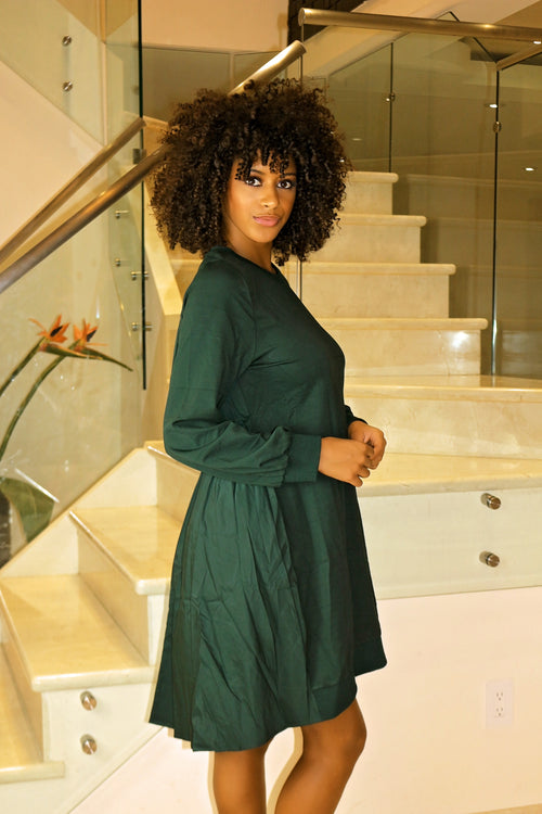 Just Be Yourself Oversized Dress- Olive