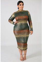 Shine On Them Plus Size Midi Dress - Semai House Of fashion