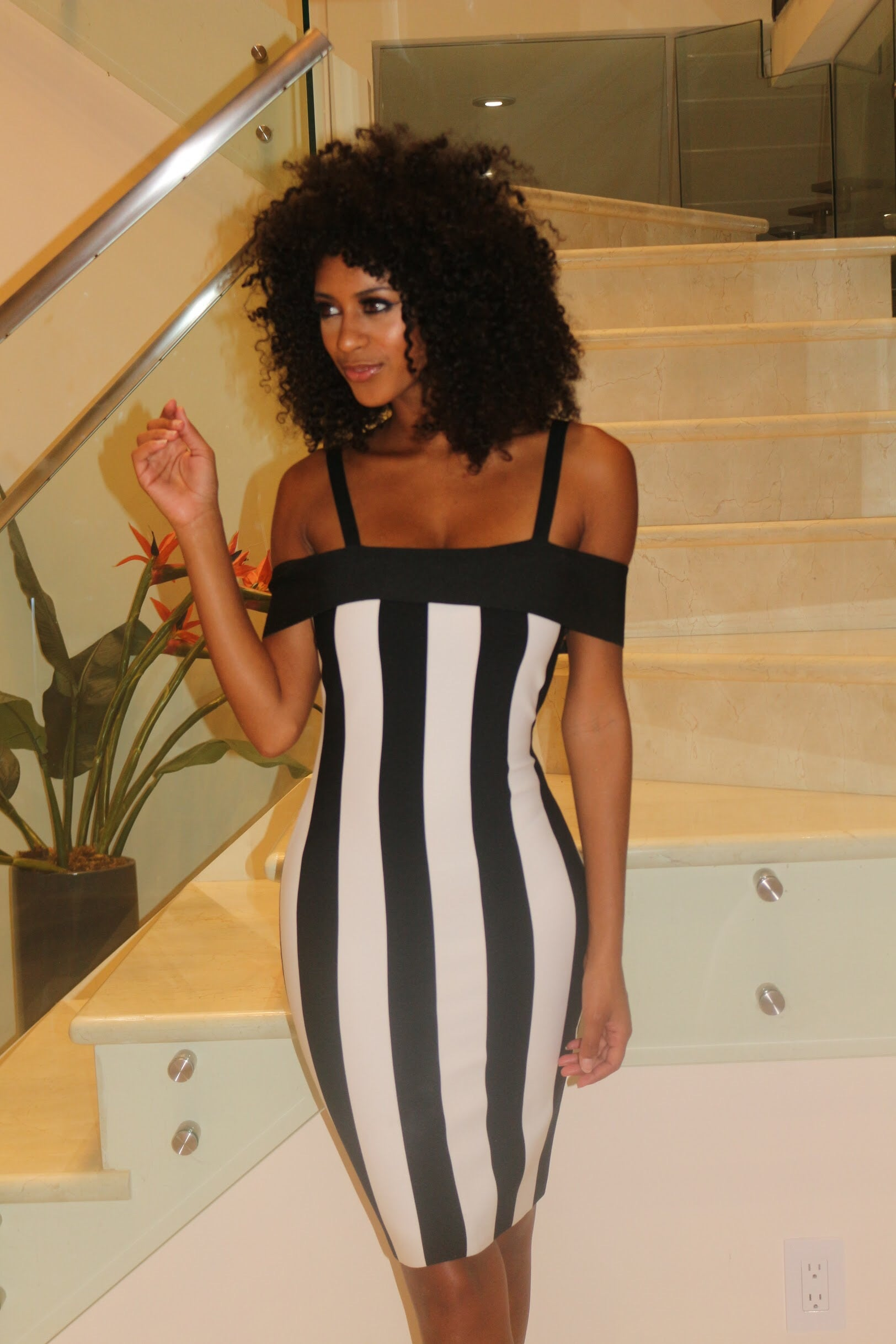 Black and White Mini Dress - Semai House Of fashion