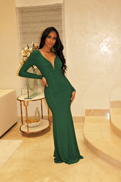 Glamorous Sexy Maxi Dress - Green