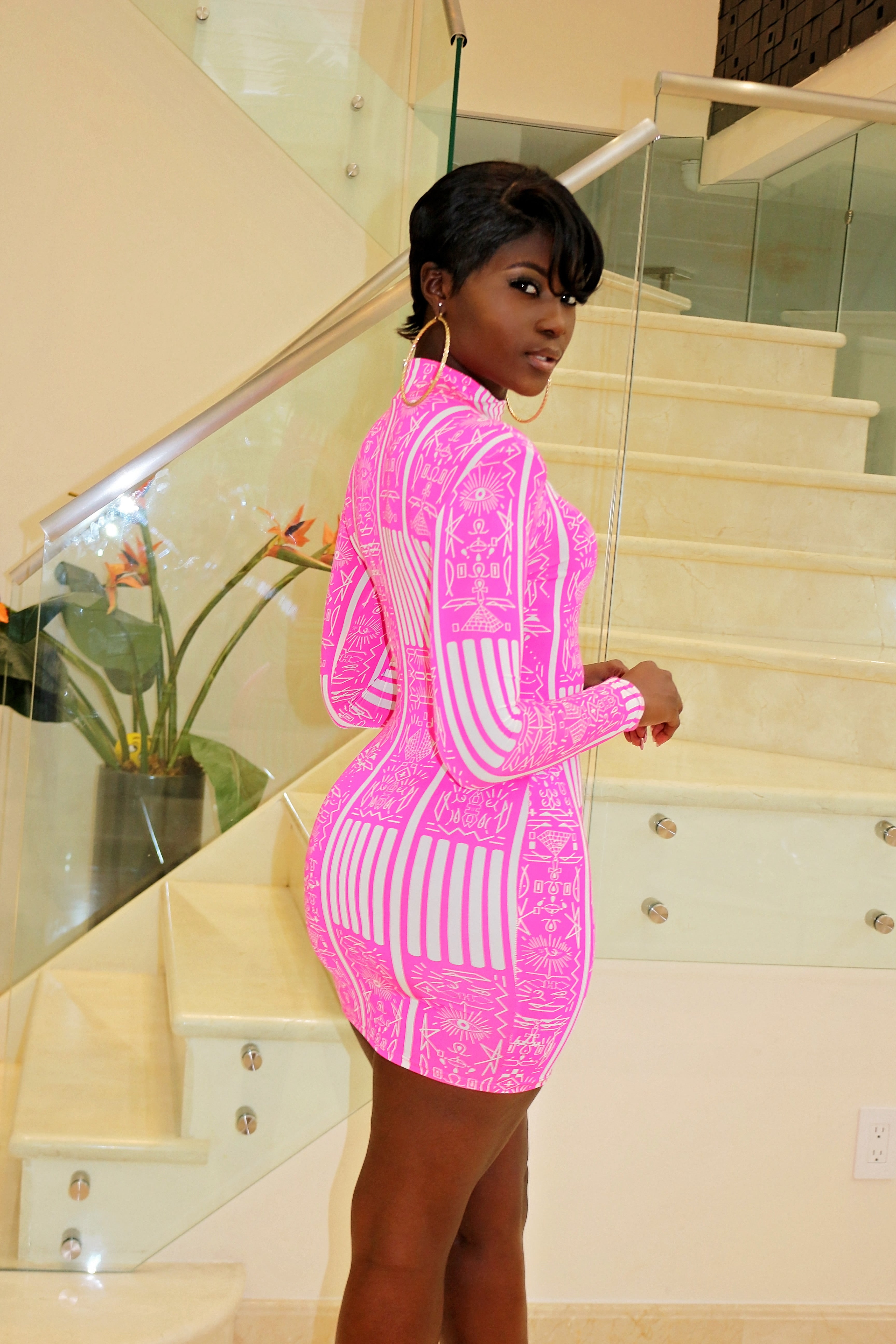 In Love With Pink Mini Dress - Semai House Of fashion