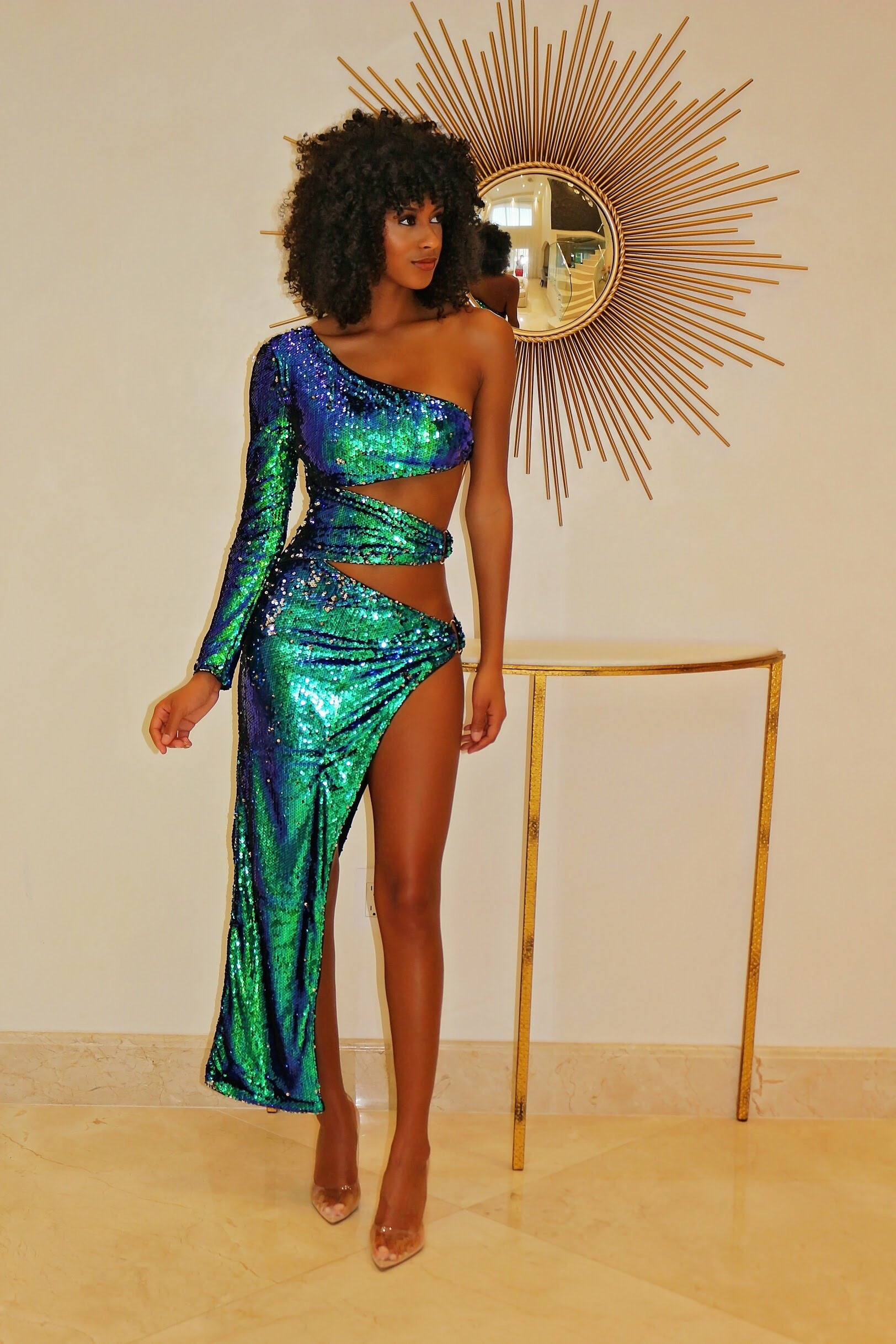 Holy Sequin Show Out Dress - Semai House Of fashion