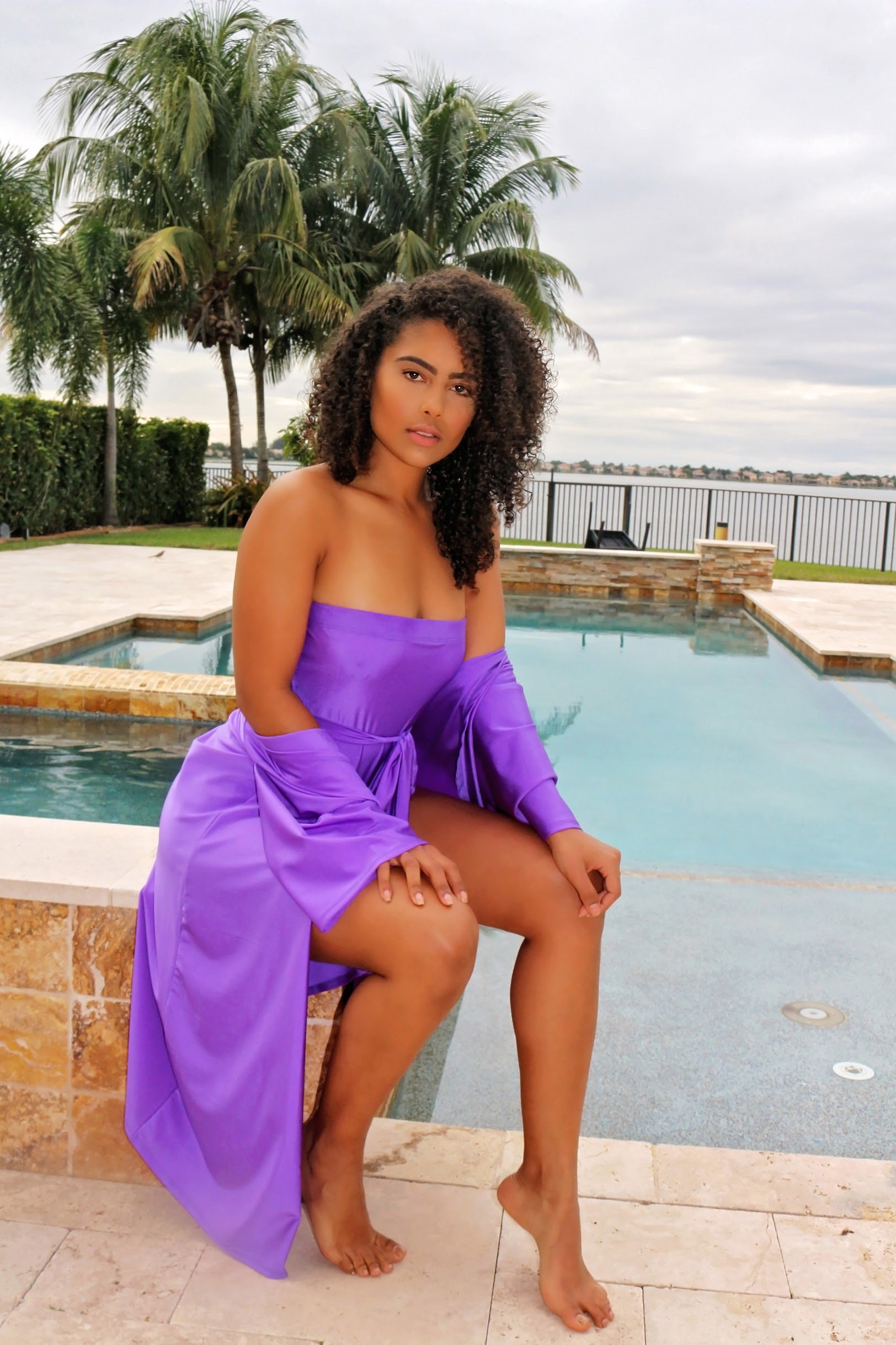 Purple Two Piece Swimsuit - Semai House Of fashion