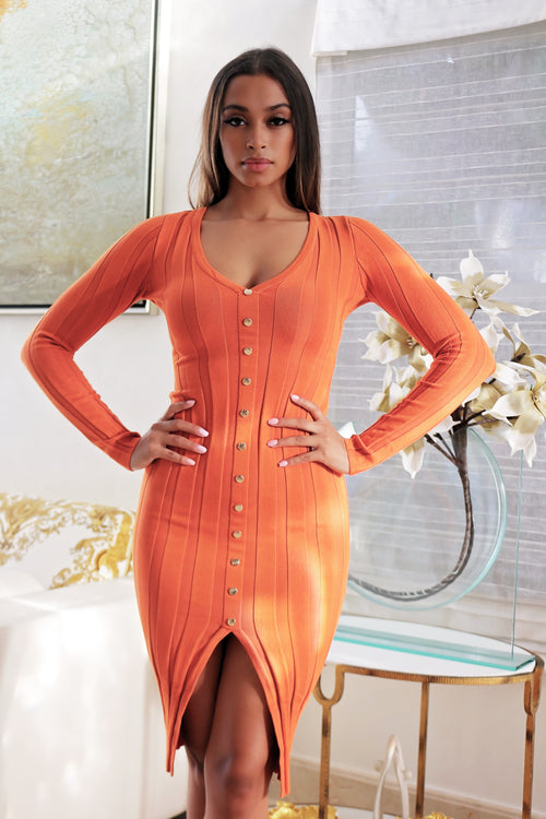 Softly Touch Me- Dress Orange
