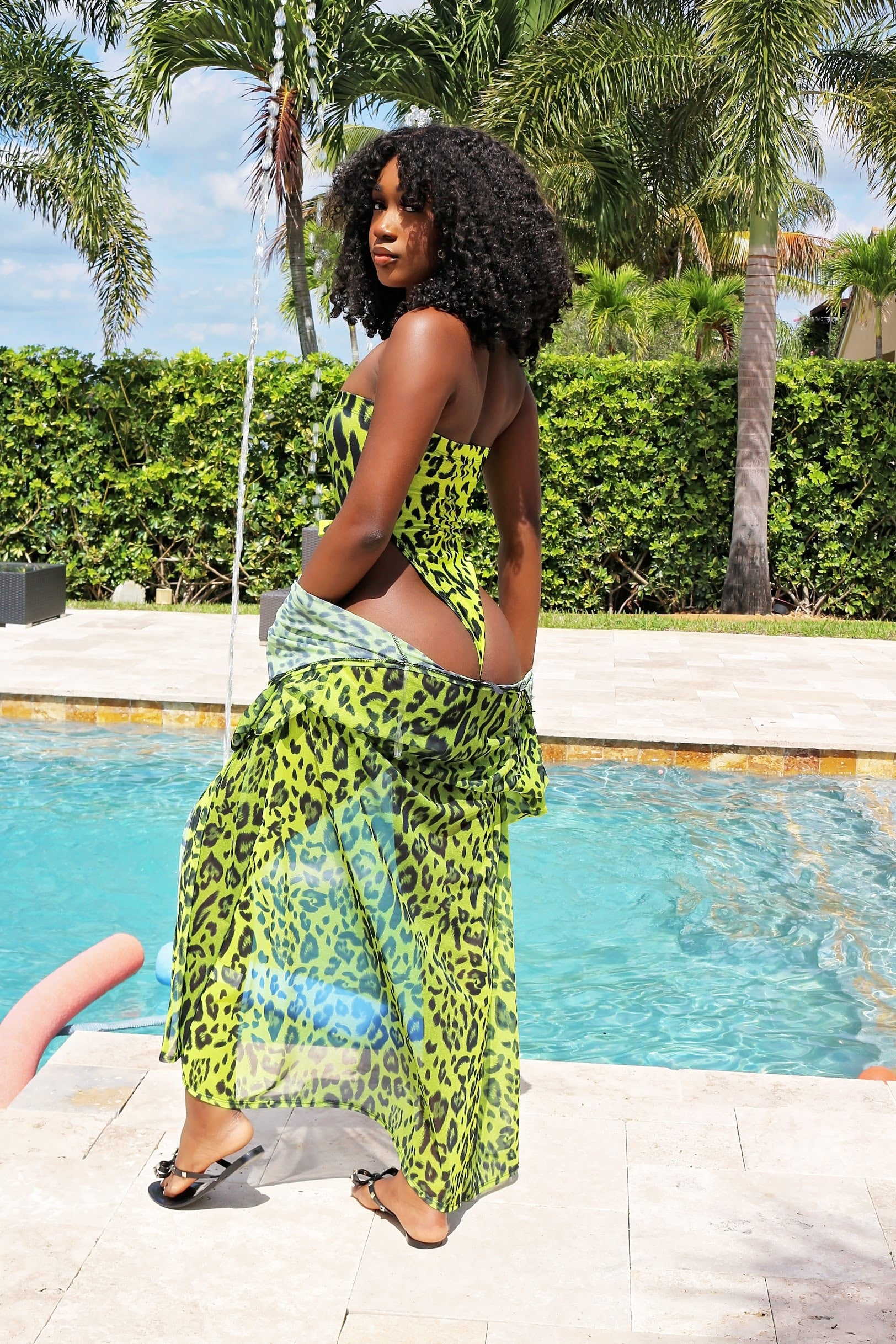 Two Piece Neon Swim Set- Neon - Semai House Of fashion