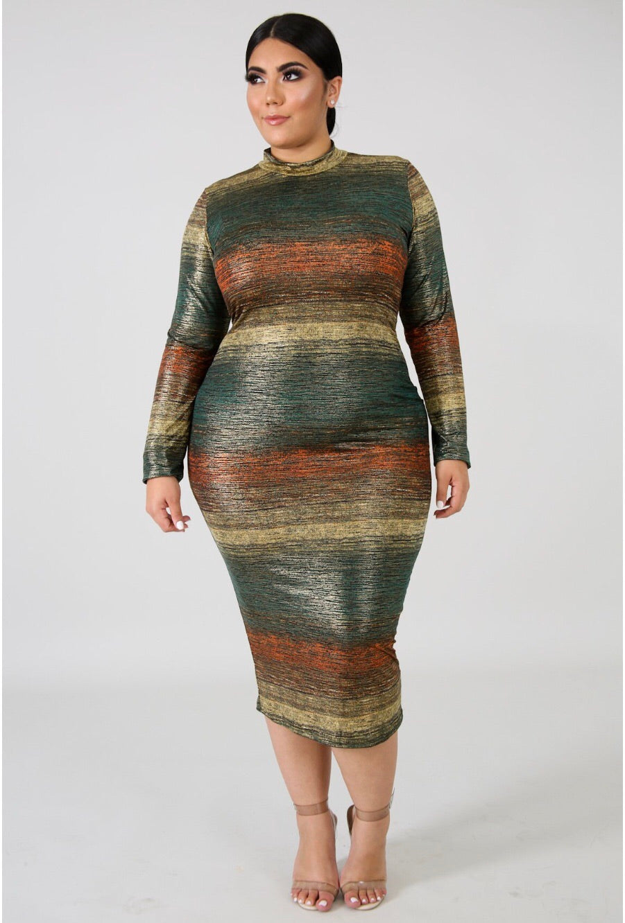 Shine On Them Plus Size Midi Dress