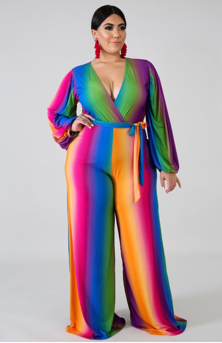 Rainbow Sexy Jumpsuit - Semai House Of fashion