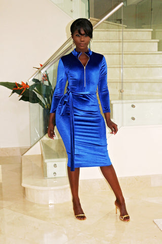 Long Legs Don't Care - Blue Dress