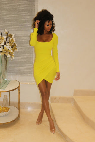 Roxi Yellow - Mini Dress