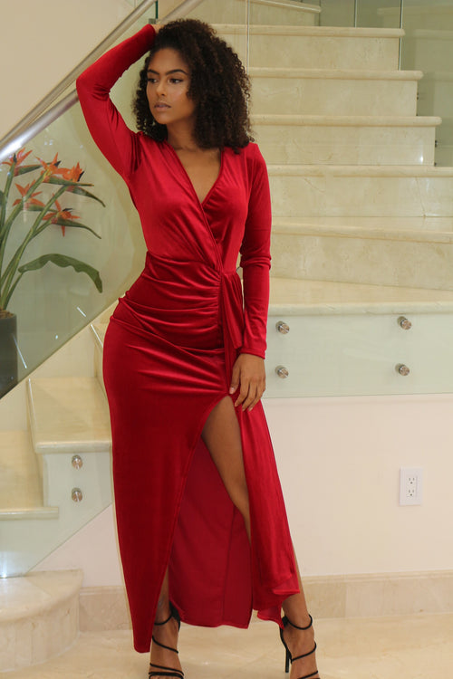 Beyond Hot Red Maxi Dress