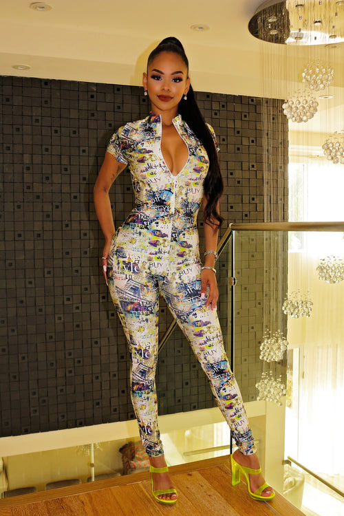 Exclusive Vip Print Jumpsuit