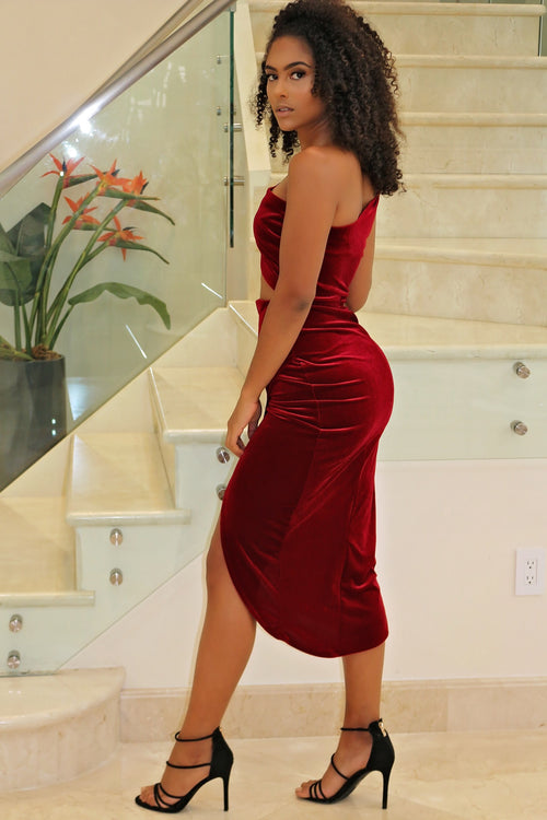 Real Confidence Mini Dress - Burgundy