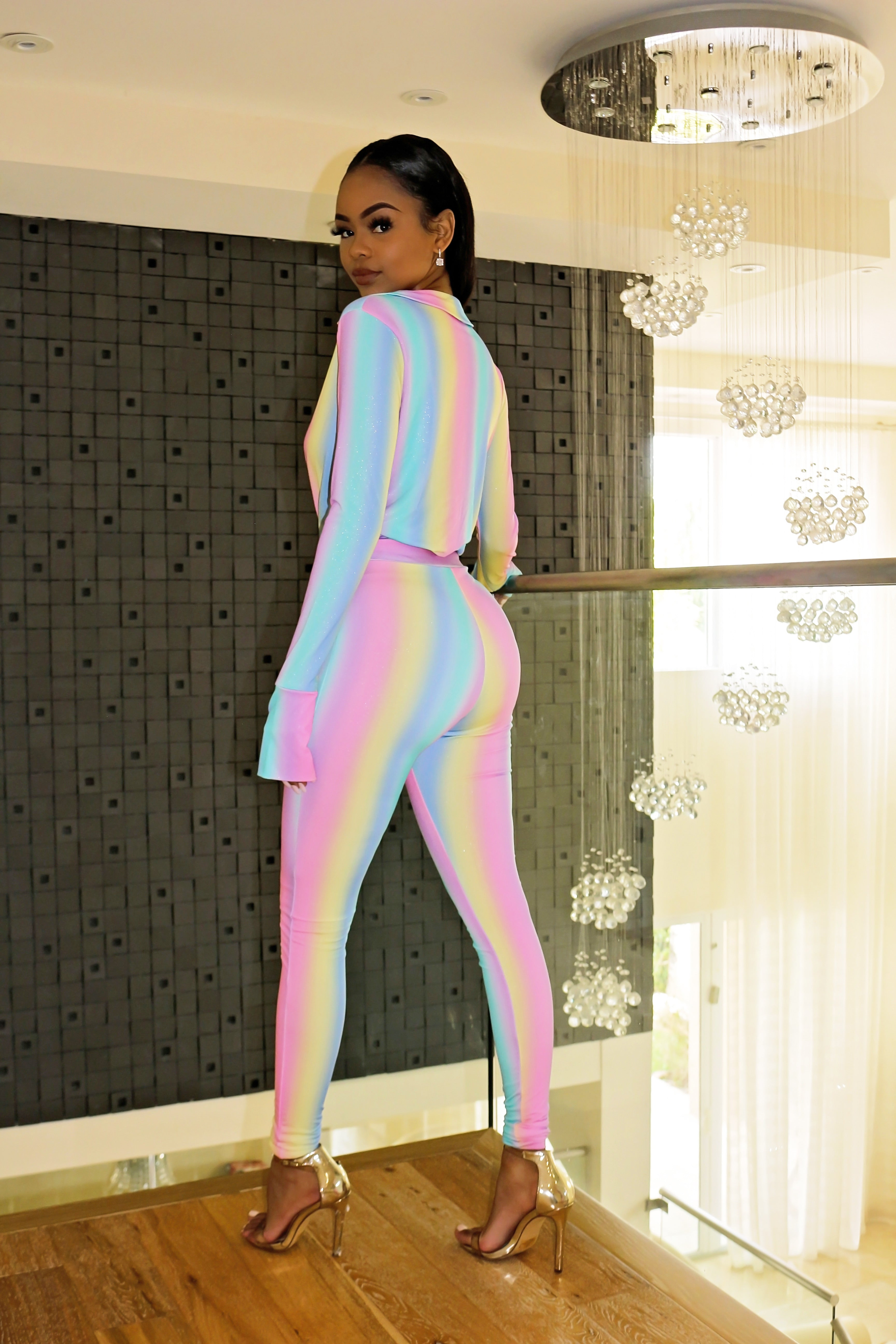 Cotton Candy Bodysuit Pants Set - Semai House Of fashion