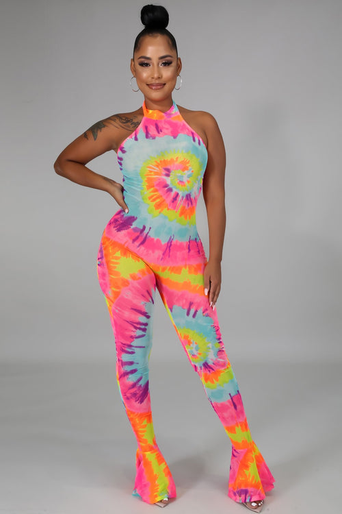 Put Some Color on me Jumpsuit - Semai House Of fashion