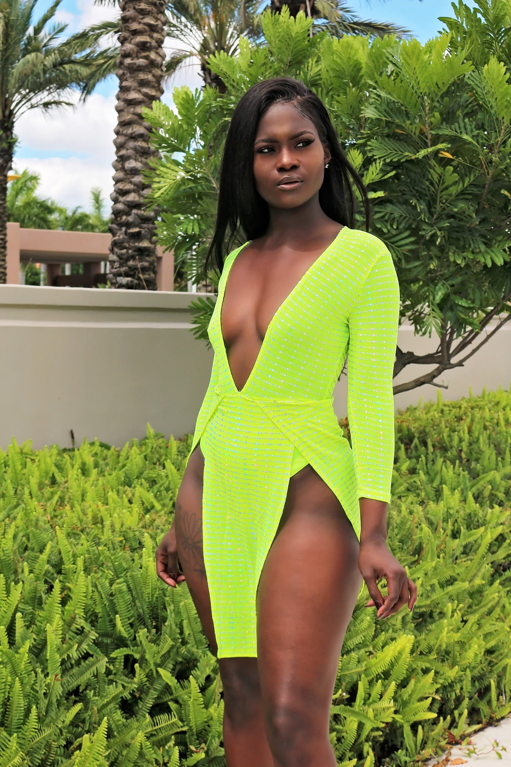 Express Mini Dress- Neon - Semai House Of fashion