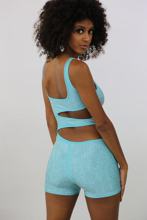 Ring On me Romper - Teal