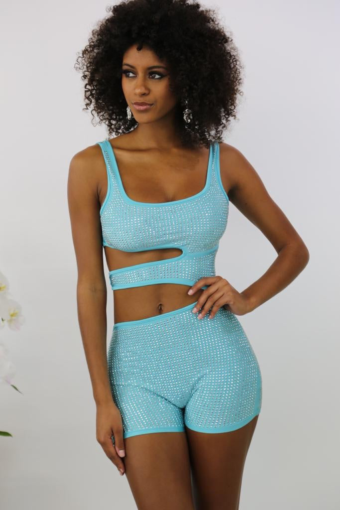 Ring On me Romper - Teal - Semai House Of fashion