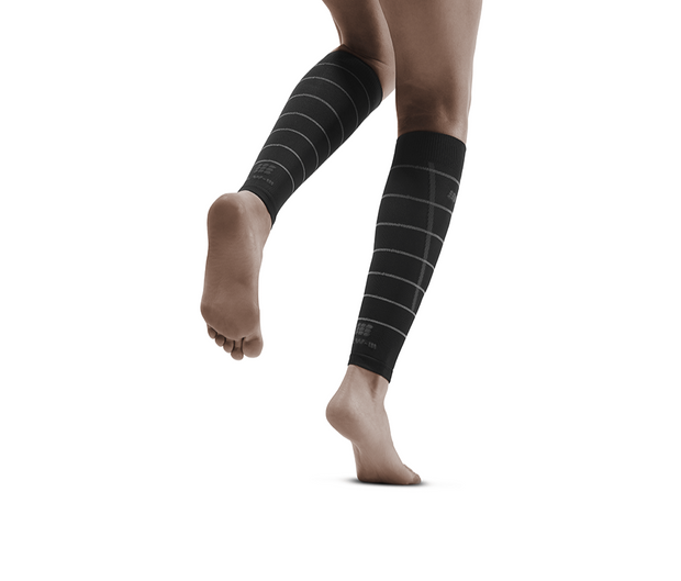 Reflective Compression Calf Sleeves, Women