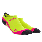 CEP compression cute womens socks - no show - lime and pink
