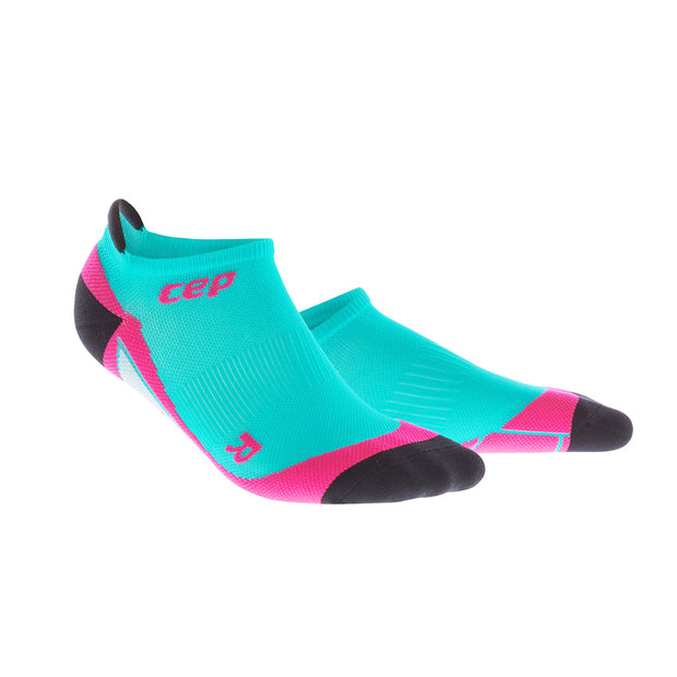 CEP compression cute womens socks - no show - lagoon and pink