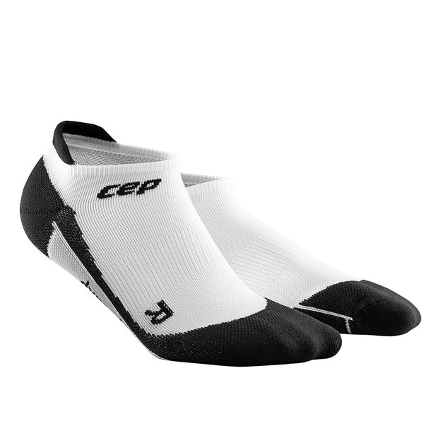 Mens No Show compression socks - CEP Compression - black and white