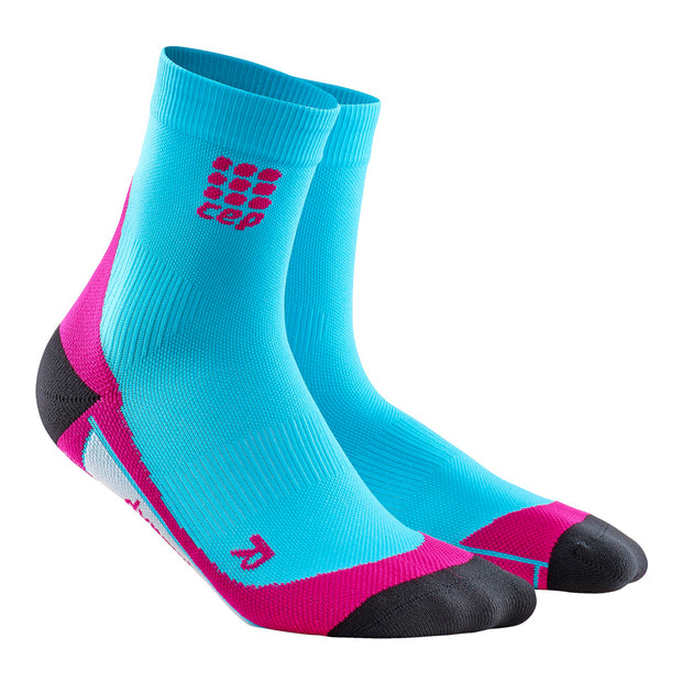 CEP compression cute womens socks short sock hawaii blue and pink