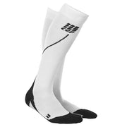 CEP Mens 2.0 Run Compression Socks - White and Black