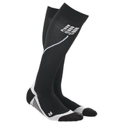 CEP Womens Running Compression Socks - black and white