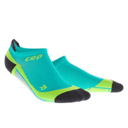 Mens No Show compression socks - CEP Compression - lagoon and lime green