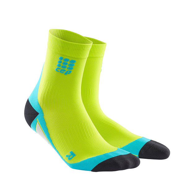 CEP Mens Short Compression Socks - Lime/Hawaii