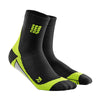 CEP Mens Short Compression Socks - Black and Green
