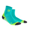 CEP Mens Short Compression Socks - Lagoon
