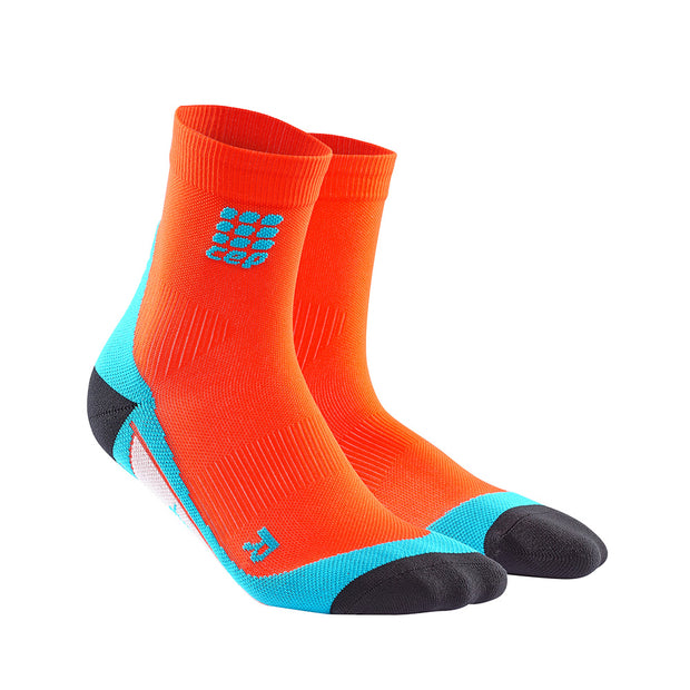CEP Mens Short Compression Socks - Sunset/ Hawaii blue